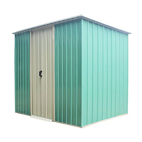 Panana Metal 8X4, Steel Sheds Outdoor Garden Tools Storage Shed(No Base