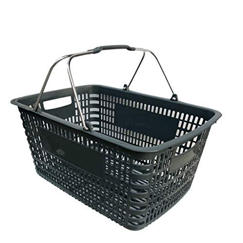 Carritos de la compra Supermercado cesta de hierro manejar cesta de compras de mercado canasta de vino cesta de almacén cesta de la clasificación gran cesta de espesor Carros Utilitarios Portátiles