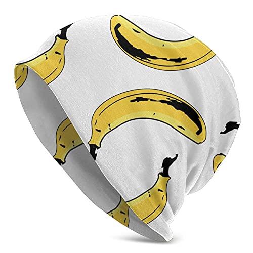 Hombre Mujer Verano Cooling Hedging Hat Beanie Cap Comfort Gorro Diario para Uso Diario Viajes, Camping, al Aire Libre (plátanos Amarillos, Blanco)
