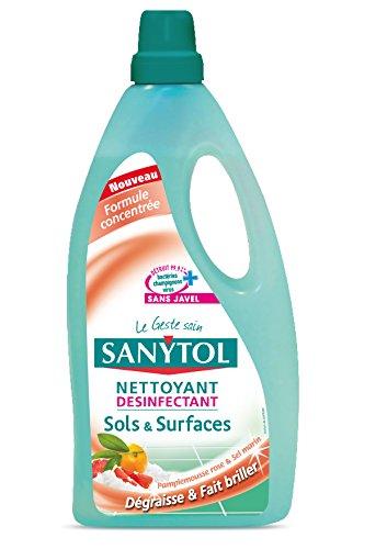 Sanytol - Detergente disinfettante per pavimenti e superfici al pompelmo e sale marino