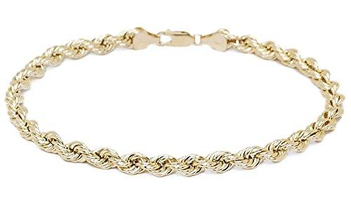 14 karat 585 Gold Kordel Armband Gelbgold 3.80 mm. Breit (19)