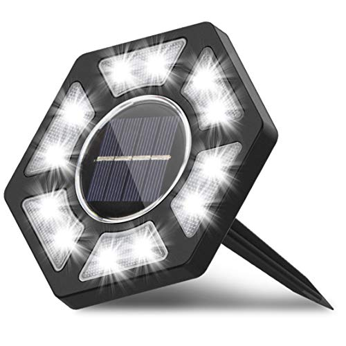 Karvipark Solar Ground Lights, LED Garden Lights Solar Powered Patio Outdoor Lights Waterproof In-ground Landscape Lighting for Yard Lawn Deck Pathway Walkway Driveway (1 Pack)