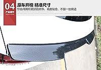 2019 新パサート CC スポイラー ABS 擬似炭素繊維色リアルーフスポイラーリップフォルクスワーゲンパサート CC 用スポイラー-Pseudo carbon fiber