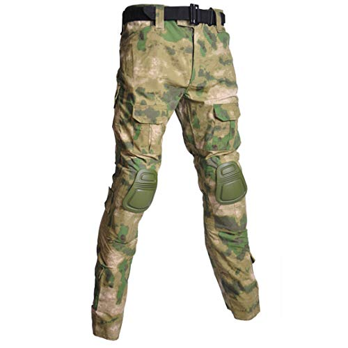 Men'S Outdoor Military Uniforms Tactical Uniforms Camouflage T-Shirt Air Gun Paintball Combat Camouflage Uniforms Shirts Atacs Fg Xl