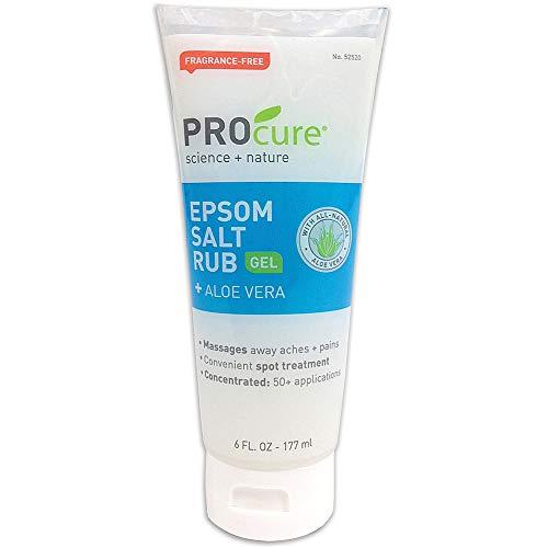 PROCURE Epsom Salt Rub Gel + Aloe Vera, 6 Oz (1 Pack)