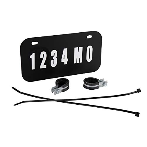 Raider FS-12000 ATV/UTV License Plate Kit with Numbers and Letters Included (7.5 in x 4 in)