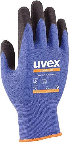 Uvex Athletic Lite Montagehandschuhe - 3 Paar Mechaniker Arbeitshandschuhe - 10/XL