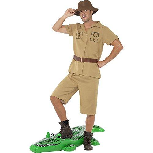 Smiffys Herren Kostüm Safari Zoowärter Abenteurer Karneval Fasching Größe M