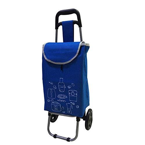 Multifunktionswagen, der Einkaufswagen faltet, alte Leute, die Gemüse, kletternde Treppen, Warenkörbe, Kleine Wagen kaufen (Farbe : Blau)