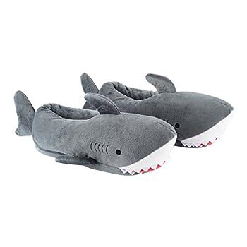 Millffy Women s Cozy Fleece Wicky Shark Memory Foam House Slippers Chomping Shark Dolphin Whale Plush Slippers 9-10 Shark
