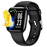 Fitness Watch, 1.54 Inch Touch Screen Cardieo Smart Watch With Heart Rate Monitor IP68 Waterproof Ladies Smart Watch For Men and Women Fitness Tracker,for iPhone Android Phone (Black)