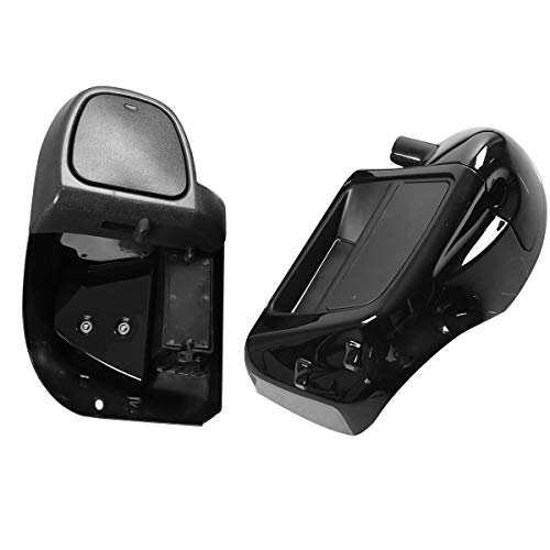 XMT-MOTO Motorcycle Lower Vented Leg Fairing Glove Box fits for Harley Touring Road King, Street Glide,Road Glide, Electra Glide, org equipment on FLHTCU 2014 2015 2016 2017 2018 2019 2020