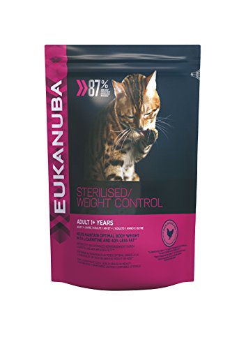 Eukanuba Sterilised/Weight Control - Alimento Completo per il controllo del peso di Gatti Adulti, Crocchette al Pollo - 1.5 Kg