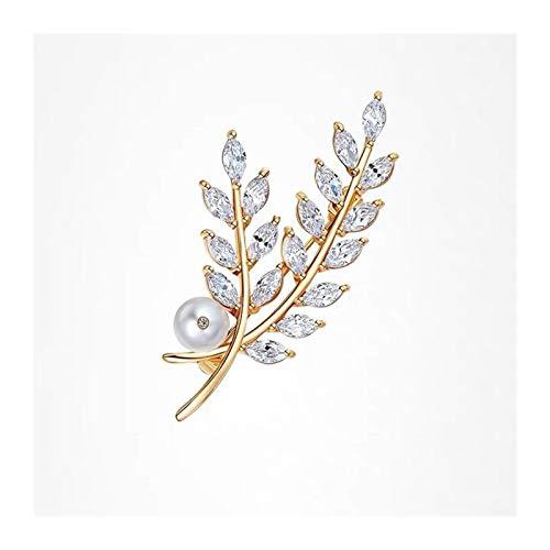 zxb-shop Broche Broches Simples y Elegantes Bufandas Hebilla Orejas de Trigo Broche Pin, para Bufandas, chales o Ponchos, Broche de Moda Broches para Mujer