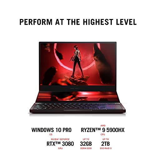 "ASUS ROG Zephyrus Duo SE 15 Gaming Laptop, 15.6"" 120Hz IPS Type FHD Display, NVIDIA GeForce RTX 3070, AMD Ryzen 9 5980HX, 32GB DDR4, 1TB PCIe SSD, Per-Key RGB Keyboard, Windows 10 Pro, GX551QR-XB98"