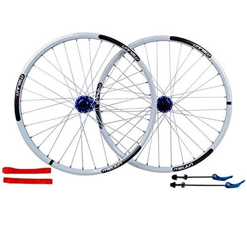 TYXTYX Ejes de liberación rápida Accesorio para Bicicleta Ruedas de aleación Delanteras y traseras de Bicicleta de 26'Juego de Ruedas MTB Freno de Disco Liberación rápida 7,8,9,10 Velocidad Bicicl