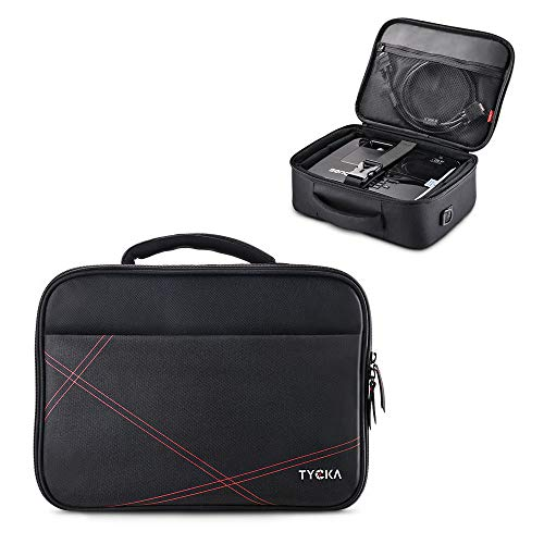 TYCKA Projektor-Tasche, Schutzhülle für Beamer, 36 x 26 x 12 cm, mit verstellbarem Schultergurt und Trennwänden für Acer, Epson, Benq, LG, Sony (Small)