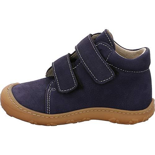 RICOSTA Pepino Unisex - Kinder Stiefel Chrisy, WMS: Weit, Freizeit leger Boots Klettstiefel Leder Kind-er Kids junior toben,See,25 EU / 7.5 UK