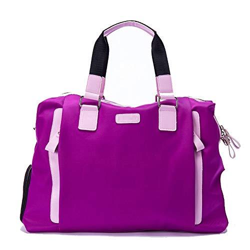 Jianghuayunchuanri Multifunctionele sporttas dames golfkleding tas en schoenentas reizen gym sportschoenen of kleding voor gym reizen luchthaven (kleur: paars, maat: 49x24x31cm)