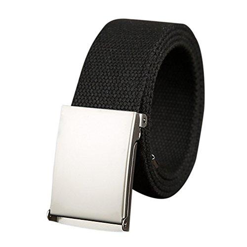 iShine Donna Casuale Cintura in Tela Cintura con Metallo Fibbia per Pantaloni