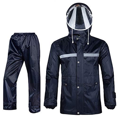 Icegrey Regenpak voor dames en heren, ademend sneeuwpak, regenjas en broek met reflecterende strepen, regenkleding voor fietsen