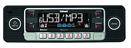 "Gelhard Classic 40""Retro Look RDS Autoradio CD MP3 USB SD + Bluetooth Freisprecheinrichtung"