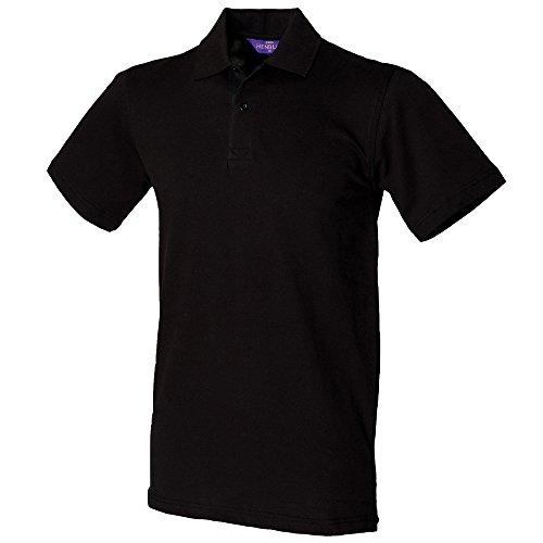 Henbury Polo piqué stretch Noir M