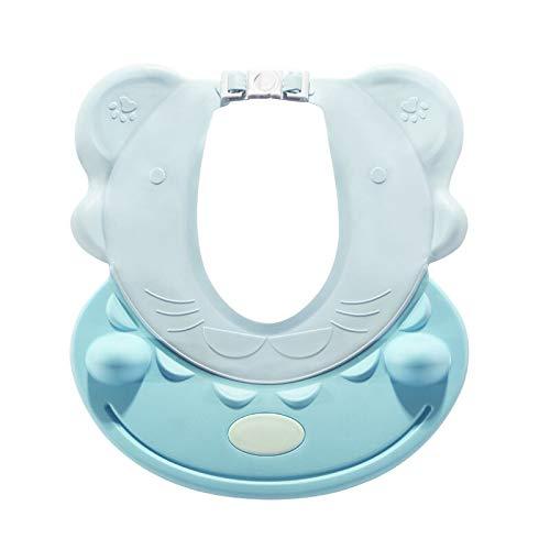 TIY Gorro de ducha para niños, gorro de sol directo, champú para niños, cuidado del bebé, estilo hippo dulce y lindo sombrero de bebé SkyBlue