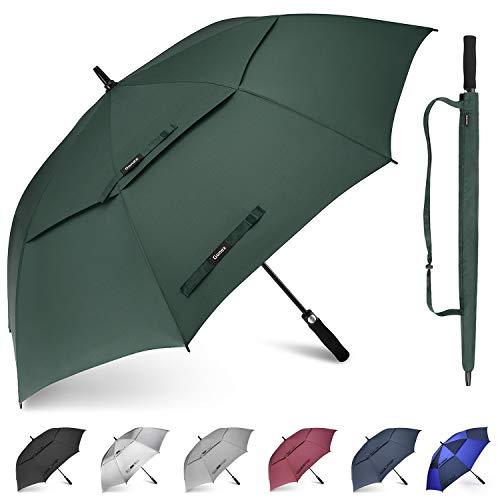 Gonex Paraguas de Golf Resistente al Viento para Hombres y Mujeres, Paraguas Abierto automático, de 62/68 Pulgadas con Doble ventilación, toldo Grande
