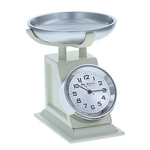Miniatura de color crema de cocina de pesaje escamas ornamento novedad coleccionistas reloj 9711