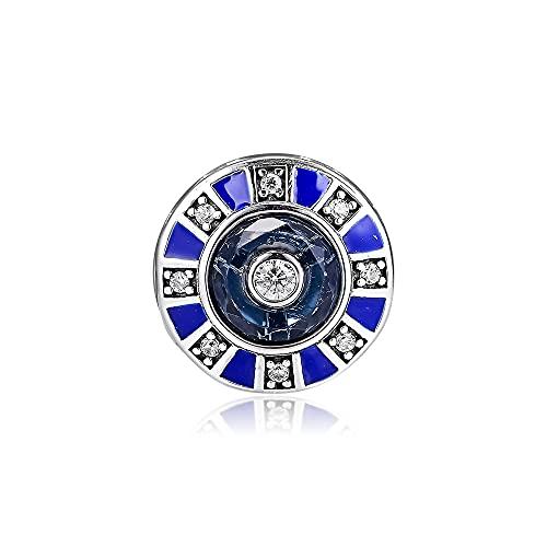 LIIHVYI Pandora Charms para Mujeres Cuentas Plata De Ley 925 Joyas De Mosaico De Metal Compatible con Pulseras Europeos Collars