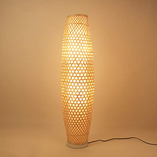 Stehlampe Bambus Garten Wohnzimmer Arbeitszimmer Schlafzimmer Stehleuchte Nordic Bambus Dekoration Lampe Größe: 25 * 98 cm