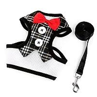 犬の胸後ろ、犬のひも犬のベスト、ベスト、弓、イブニングドレス、胸ハーネス、ペット用品 (Color : 3, Size : S)