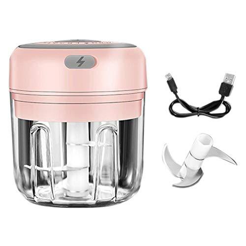 Amoladora de carne 250ml / 150ml Mini alimento eléctrico Ajo Vegetal Chopper Grinder Triturador Prensa para tuercas Fruit Fruit USB Grindero de carne recargable Hogar (Color : 06)