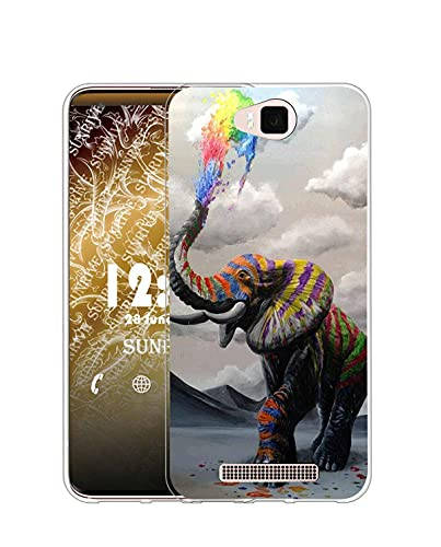 Sunrive Kompatibel mit Cubot H2 Hülle Silikon, Transparent Handyhülle Schutzhülle Etui Hülle (Q Elefant 1)+Gratis Universal Eingabestift MEHRWEG