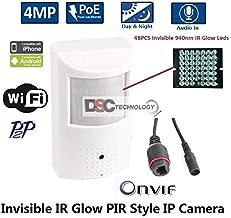 4MP Covert IP Camera, PIR Style, with Audio, 48x940nm IR LEDs, IR-Cut, PoE & 12v, ONVIF