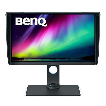 """BenQ SW271 - Monitor para fotógrafos de 27"""" 4K UHD (3840x2160, 5ms, HDMI, IPS, 10 Bits, HDR, 99% Adobe RGB, 100% Rec.709, DCI-PS, calibración del hardware, LUT 3D de 14bits, GamutDuo, USB-C) - Gris"""