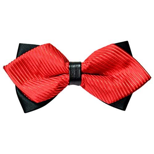 Xmiral Fliege Herren in 9 Rot Farben Schleife gebunden und verstellbar (12CM X 6CM) für die...