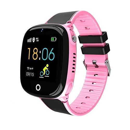 Smart Watch Phone for Child, GPS Tracker Reloj de pulsera inteligente para niños de 3-16 años de edad, con cámara SOS Ranura para tarjeta SIM Pantalla táctil Juego SmartWatch Actividades al aire libre Juguetes Regalo del día de los niños (Rosa) (GSM solamente)