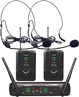 Karsect wr25d-pt25-ht9 a - 2チャンネルヘッドセットマイク付き8チャンネルワイヤレスマイクセット