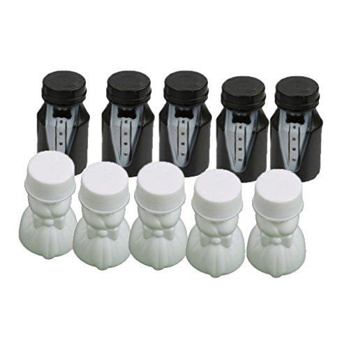 SODIAL Nozze festa sposa e sposo bolla bottiglia 1 set (24 pezzi)