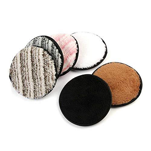 Tampon d/émaquillant r/éutilisable Womdee coton tampons nettoyants sans produits chimiques lingettes nettoyantes faciales nettoyantes douces pour le visage avec double couche 8-pack