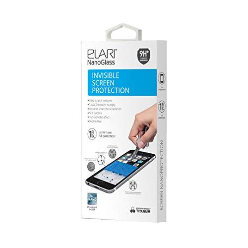 Elari NanoGlass, Premium-Displayschutzfolie aus flüssigem Glas, unsichtbare Nanobeschichtung, die den Bildschirm vor Kratzern schützt, schädliche Strahlung ablenkt und Bakterien abtötet.