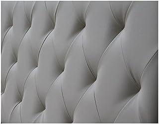 Ventadecolchones - Cabecero Tapizado Acolchado de Dormitorio Modelo Diamond el Polipiel Gris y Medidas 200 x 70 cm para Camas de 180 ó 200