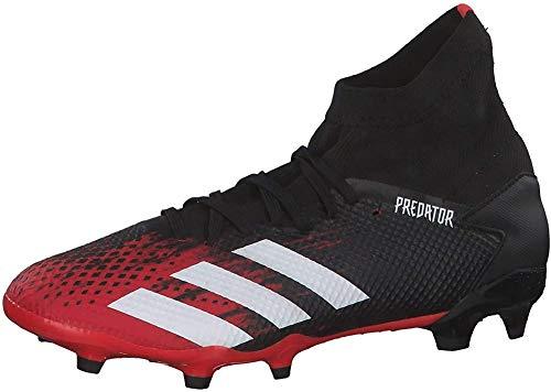 adidas Herren Predator 20.3 Fg Fußballschuhe, Mehrfarbig (Kern Schwarz/FTWR Weiss/Aktiv Rot), 44 EU