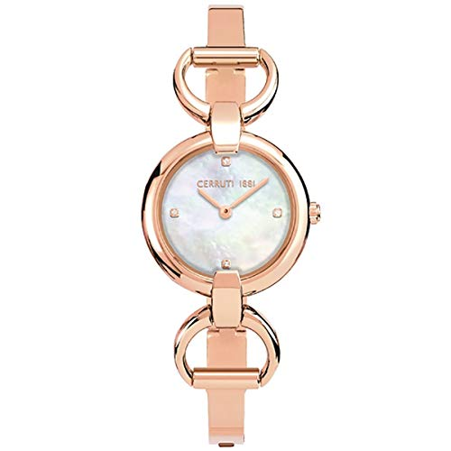 Cerruti 1881 Damen-Armbanduhr, Stahl, Rosa