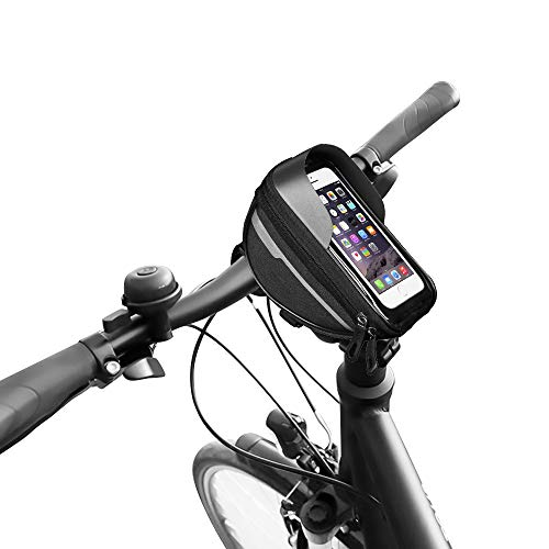 Generies Bolsa Cuadro Bicicleta,Bolsa Bici Impermeable con Pantalla Táctil para Teléfono Inteligente por Debajo de 6,4 Pulgadas