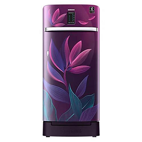 Samsung 198 L 4 Star Inverter Direct cool Single Door Refrigerator (RR21A2F2X9R/HL, Paradise Bloom...