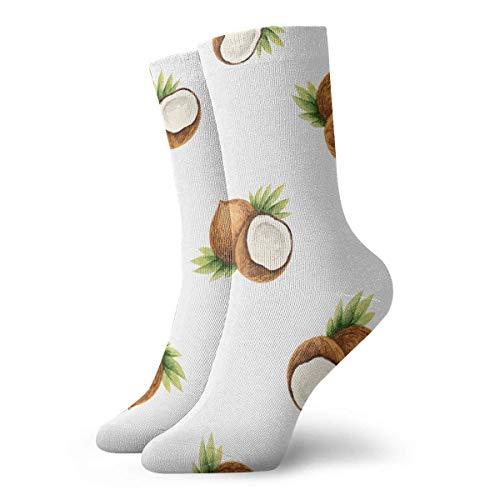 shenguang - Calcetines unisex con diseño de cojín para tobillo alto, calcetines deportivos informales con imagen de coco