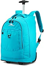 High Sierra Chaser Lightweight Wheeled Laptop Backpack, fits most 17-inch laptop models, Ideal for High School and College Students Bluebird